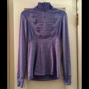 Lululemon Run Your Heart Out Pullover sz 8 Purple